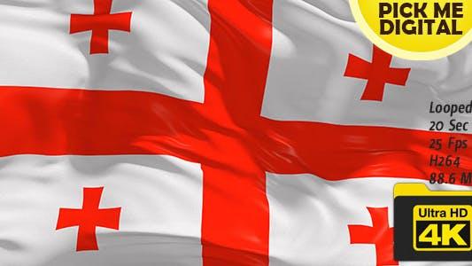 Thumbnail for Georgia Flag 4K