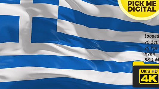 Cover Image for Greece Flag 4K