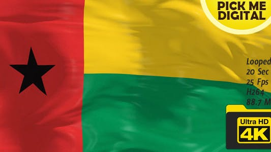 Cover Image for Guinea-Bissau Flag 4K