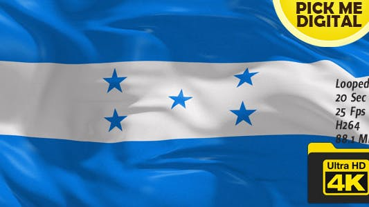 Cover Image for Honduras Flag 4K
