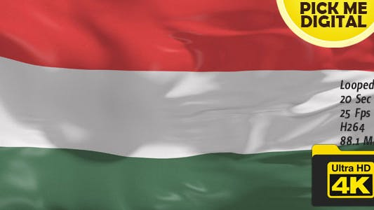 Cover Image for Hungary Flag 4K