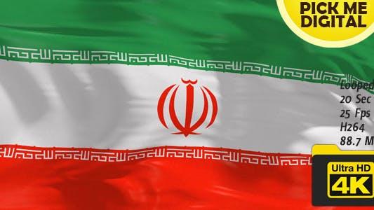 Iran Flag 4K
