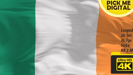Thumbnail for Ireland Flag 4K