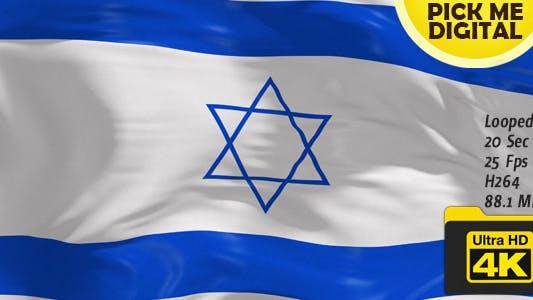 Thumbnail for Israel Flag 4K