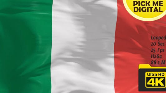Cover Image for Italy Flag 4K