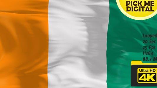 Cover Image for Ivory Coast Flag 4K
