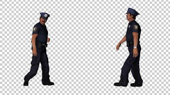 Thumbnail for Male Police Officer Walking - 2 Scene