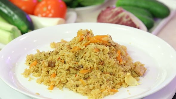 Thumbnail for Asian Pilaf - Rice with Meat and Vegetables