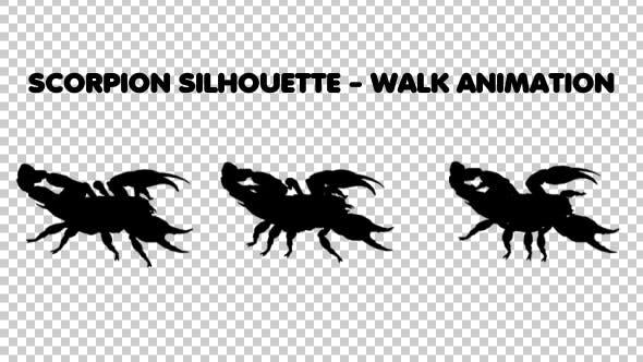 Scorpion Silhouette - Walk Animation