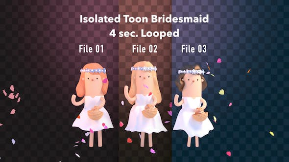 Thumbnail for Isolated Toon Bridesmaid