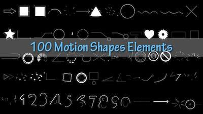 100 Motion Shapes Elements
