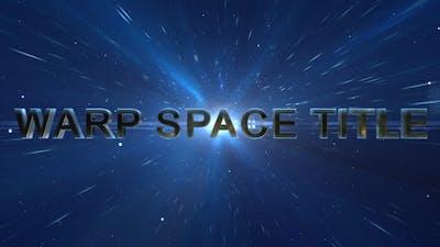Warp Space Title