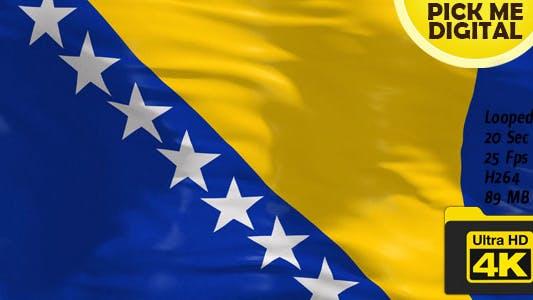 Thumbnail for Bosnia and Herzegovina Flag 4K