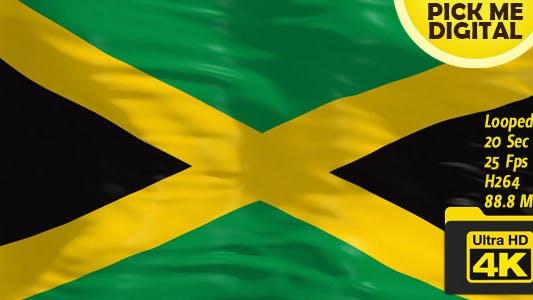 Thumbnail for Jamaica Flag 4K