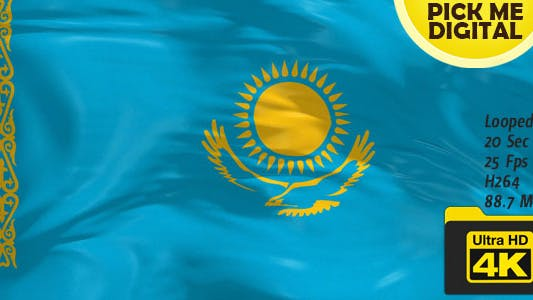 Thumbnail for Kazakhstan Flag 4K