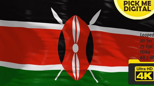 Thumbnail for Kenya Flag 4K