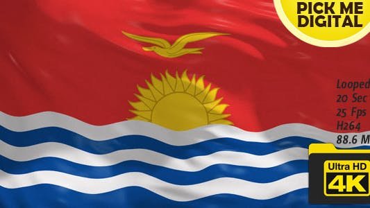 Cover Image for Kiribati Flag 4K