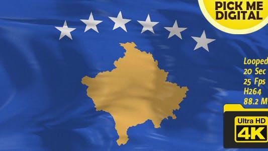 Thumbnail for Kosovo Flag 4K