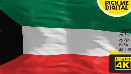 Thumbnail for Kuwait Flag 4K