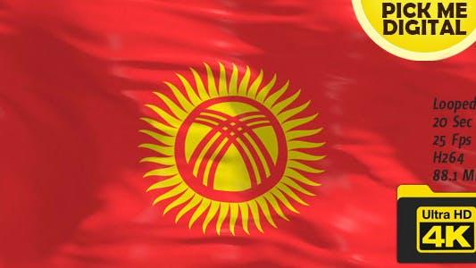 Thumbnail for Kyrgyzstan Flag 4K