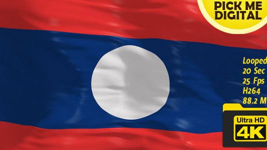 Thumbnail for Laos Flag 4K