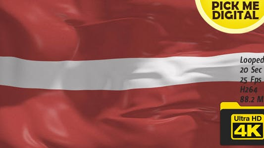 Thumbnail for Latvia Flag 4K