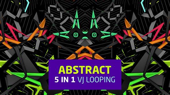 Thumbnail for Abstract 5 in 1 Vj Looping