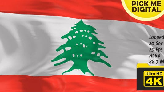 Thumbnail for Lebanon Flag 4K