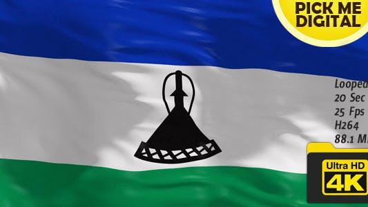 Thumbnail for Lesotho Flag 4K