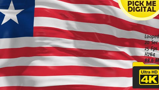 Cover Image for Liberia Flag 4K