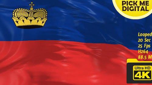 Liechtenstein Flag 4K