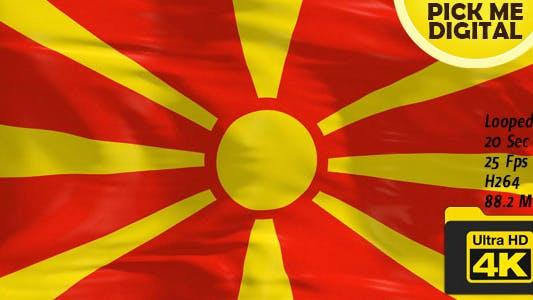 Cover Image for Macedonia Flag 4K