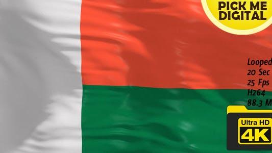 Drapeau Madagascar 4K