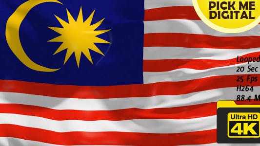 Thumbnail for Malaysia Flag 4K
