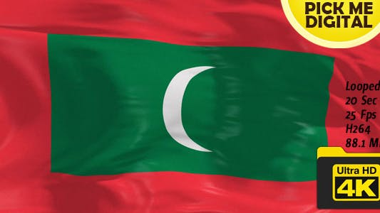 Thumbnail for Maldives Flag 4K