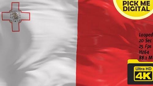 Malta Flag 4K