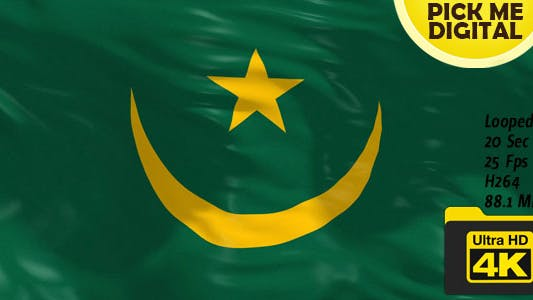 Thumbnail for Mauritania Flag 4K