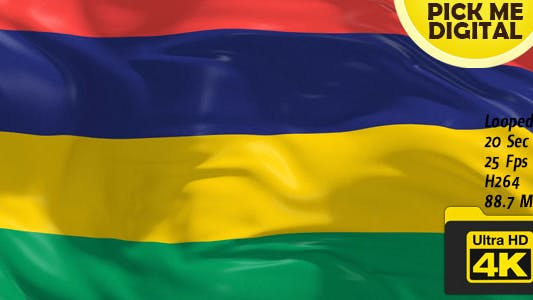 Cover Image for Mauritius Flag 4K