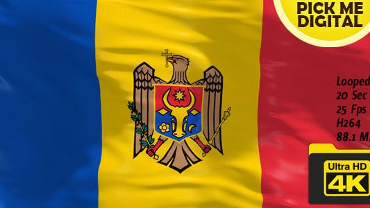Thumbnail for Moldova Flag 4K