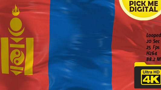 Thumbnail for Mongolia Flag 4K