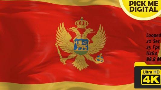 Cover Image for Montenegro Flag 4K