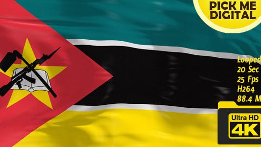 Cover Image for Mozambique Flag 4K