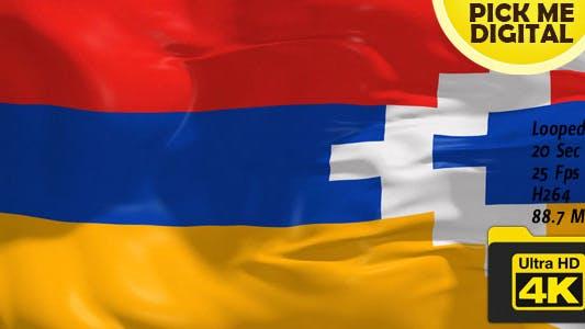 Thumbnail for Nagorno-Karabakh Republic Flag 4K