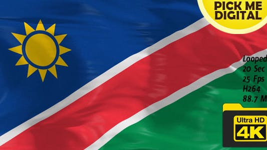 Thumbnail for Namibia Flag 4K