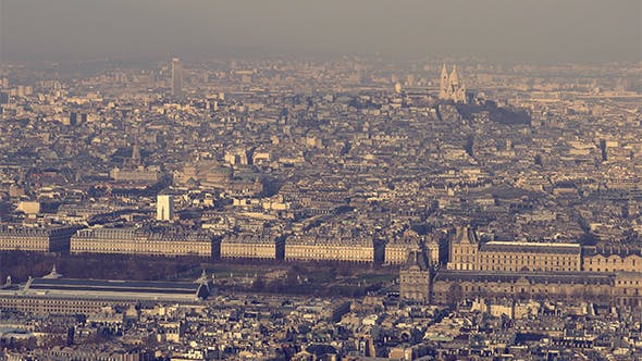 Thumbnail for Paris, France - Aerial view of the Louvre