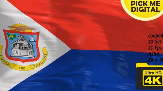 Cover Image for Netherlands-Sint Maarten Flag 4K