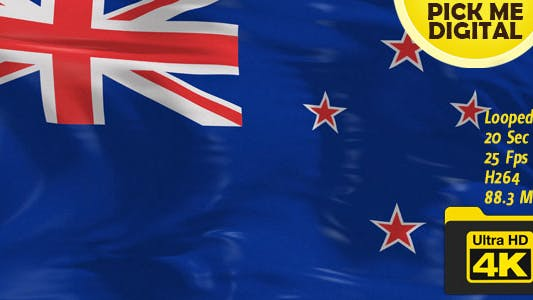 Cover Image for New Zealand Flag 4K