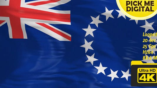 Cover Image for New Zealand-Cook Islands Flag 4K