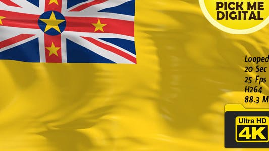 Thumbnail for New Zealand-Niue Flag 4K