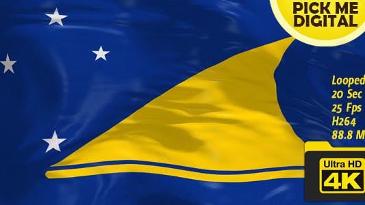 New Zealand-Tokelau Flag 4K